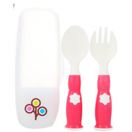 3 PACK OF Zoli, Fork & Spoon Set, +6 mo, Pink, 2 Piece Set