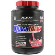 ALLMAX Nutrition, Quick Mass, Rapid Mass Gain Catalyst, Strawberry-Banana, 6 lbs (2.72