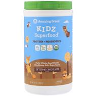 Amazing Grass Kidz Superfood Protein + Probiotics Drink Mix Powder Extreme Chocolate -- 15 Servings