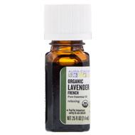 Aura Cacia, Pure Essential Oil, Organic French Lavender, .25 fl oz (7.4 ml)