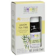 Aura Cacia, Pure Essential Oils, Lemon Tea Tree, .5 fl oz (15 ml)