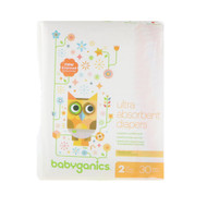 BabyGanics, Ultra Absorbent Diapers, Size 2, 12-18 lbs (5-8, 30 Diapers