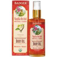 Badger Company, Antioxidant Body Oil, Vanilla Orchid, 4 fl oz (118 ml)