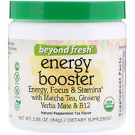 Beyond Fresh, Energy Booster, Energy, Focus & Stamina, Natural Peppermint Tea Flavor, 2.96 oz (84 g)