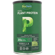 Biochem Sports 100% Plant Protein Supplement Vanilla -- 12.4