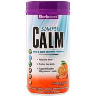 Bluebonnet Nutrition, Simply Calm Powder, Orange Citrus Flavor, 16 oz (454 g)
