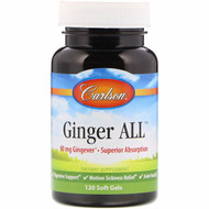 Carlson Labs, Ginger All, 80 mg, 120 Soft Gels