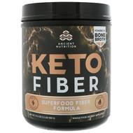 Dr. Axe / Ancient Nutrition, Keto Fiber, Superfood Fiber Formula, 17.6 oz (500 g)