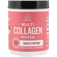 Dr. Axe / Ancient Nutrition, Multi Collagen Protein Powder, Beauty Within, Refreshing Natural Watermelon Flavor, 18.7 oz (530 g)