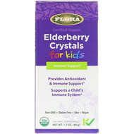 Flora, Certified Organic, Elderberry Crystals for Kids, 1.7 oz (50 g)