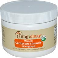 Fungiology, Organic Cordyceps Sinensis (Cordyceps), 3.52 oz (100 g) Powder
