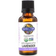 Garden of Life, 100% Organic & Pure, Essential Oils, Calming, Lavender, 1 fl oz (30 ml)