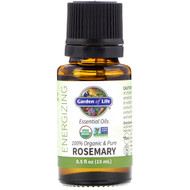 Garden of Life, 100% Organic & Pure, Essential Oils, Energizing, Rosemary, 0.5 fl oz (15 ml)