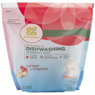 Grab Green, Automatic Dishwashing Detergent Pods, Red Pear with Magnolia, 132 Loads, 5 lbs 40 oz (2376 g)
