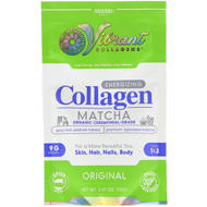 Green Foods Corporation, Vibrant Collagens, Energizing Collagen Matcha, Original, 2.47 oz (70 g)