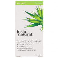 InstaNatural, 5% Glycolic Acid Cream, Anti-Aging, 1.7 fl oz (50 ml)
