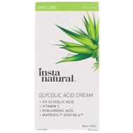 InstaNatural, 5% Glycolic Acid Cream, Anti-Aging, 1.7 fl oz (50 ml)