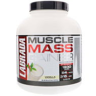 Labrada Nutrition, Muscle Mass Gainer with Creatine, Vanilla, 6 lbs (2722 g)
