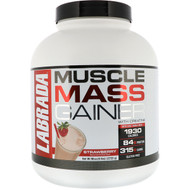 Labrada Nutrition, Muscle Mass Gainer, Strawberry, 6 lbs (2722 g)