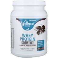 Life Extension, Wellness Code, Whey Protein Concentrate, Chocolate Flavor, 1.41 lb (640 g)