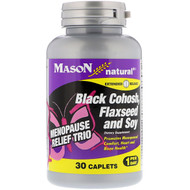 Mason Natural, Menopause Relief Trio, Black Cohosh, Flaxseed and Soy, 30 Caplets