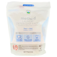 Method Laundry Detergent Packs Free and Clear 42 Loads -- 24.7 oz