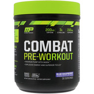 MusclePharm Combat Pre-Workout Blue Raspberry -- 30 Servings
