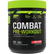 MusclePharm, Combat Pre-Workout, Fruit Punch, 9.63 oz (273 g) (Discontinued Item)