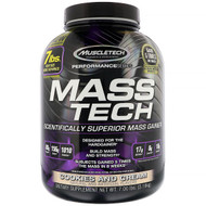 Muscletech, Mass-Tech, Scientifically Superior Mass Gainer, Cookies and Cream, 7.00 lb (3.18