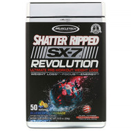 Muscletech, Shatter Ripped SX-7 Revolution Ultimate Pre-Workout, Blueberry Lemonade, 10.02 oz (284 g)