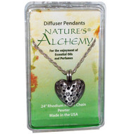 Natures Alchemy, Heart Necklace, Diffuser Pendants, 1 Pendant