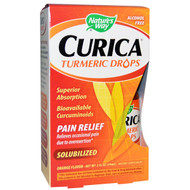 Natures Way, Curica, Turmeric Drops, Pain Relief, Orange Flavor, 2 fl oz (59 ml)