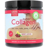 Neocell, Super Collagen, Type 1 & 3, Berry Lemon, 6,000 mg, 6.7 oz (190 g)