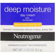 Neutrogena, Deep Moisture, Day Cream with Sunscreen, Broad Spectrum SPF 20, 2.25 oz (63 g)