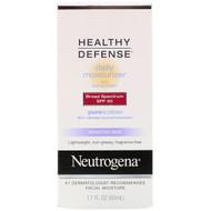 Neutrogena, Healthy Defense, Daily Moisturizer with Sunscreen, Broad Spectrum SPF 50, Sensitive Skin, 1.7 fl oz (50 ml)