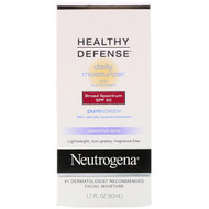 Neutrogena, Healthy Defense, Daily Moisturizer with Sunscreen, Broad Spectrum SPF 50, Sensitive Skin, 1.7 fl oz (50 ml)