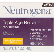 Neutrogena, Triple Age Repair, Moisturizer with Sunscreen, Broad Spectrum SPF 25, 1.7 oz (48 g)