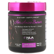 NLA for Her, Her Amino Burner, Intra-Workout BCAA Fat Burner + Energy, Sour Apple, 0.43 lbs (195 g)