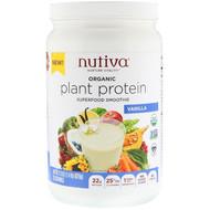 Nutiva, Organic Plant Protein, Vanilla, 1.4 lb (620 g)
