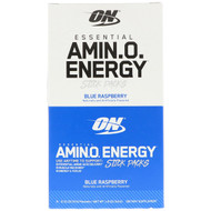 Optimum Nutrition, Essential Amin.O. Energy, Blue Raspberry, 6 Stick Packets, 0.31 oz (9 g) Each