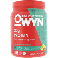 OWYN Plant Protein Strawberry Banana -- 1.1 lbs