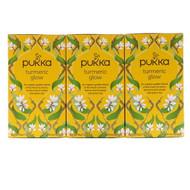 Pukka Herbs, Turmeric Glow Tea, 3 Pack, 20 Herbal Tea Sachets Each