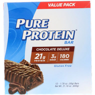 Pure Protein, Chocolate Deluxe Bar, 12 Bars, 1.76 oz (50 g) Each