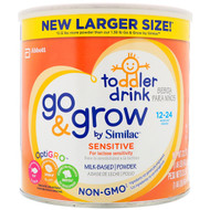 Similac, Toddler Drink, Go & Grow, Sensitive, 12-24 Months, 23.2 oz (661 g)