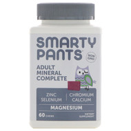 SmartyPants, Adult Mineral Complete, Magnesium, Mixed Berry, 60 Chews