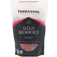 Terrasoul Superfoods, Goji Berries, Sun-Dried, 16 oz (454 g)