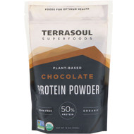 Terrasoul Superfoods, Plant-Based Protein Powder, Chocolate, 12 oz (340 g)