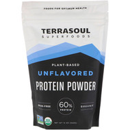 Terrasoul Superfoods, Plant-Based Protein Powder, Unflavored, 12 oz (340 g)