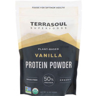 Terrasoul Superfoods, Plant-Based Protein Powder, Vanilla, 12 oz (340 g)