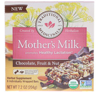 Traditional Medicinals, Mothers Milk, Chocolate, Fruit, & Nut, 6 Individually Wrapped Bars, 7.2 oz (204 g)